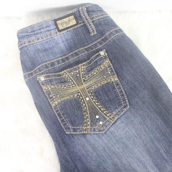 613b0848f8d Earl Jeans Denim - Earl Jean Plus Size Womens Rhinestones Cross Weste